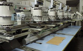 ID# 1229 1994 Barudan Profit-806T-YS  Multi-head commercial embroidery machine http://www.TheEmbroideryWarehouse.com