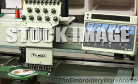 ID# 1240 1994 Tajima TMFX-C904  Multi-head commercial embroidery machine http://www.TheEmbroideryWarehouse.com