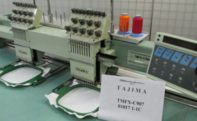 ID#1247 - Tajima TMFX-C902 Commercial Embroidery Machine.  Year 1994 Heads: 2 Needles: 9 - www.TheEmbroideryWarehouse.com