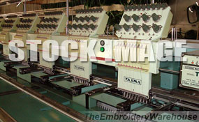 ID#1255 - Tajima TME-DC-915 Commercial Embroidery Machine.  Year 1996 Heads: 15 Needles: 9 - www.TheEmbroideryWarehouse.com