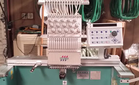 ID#1266 - Tajima TMEX-C1501 Commercial Embroidery Machine.  Year 2001 Heads: 1 Needles: 15 - www.TheEmbroideryWarehouse.com