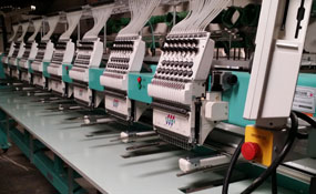 ID#1273 - Tajima TFMX-IIC1508 Commercial Embroidery Machine.  Year 2008 Heads: 8 Needles: 15 - www.TheEmbroideryWarehouse.com