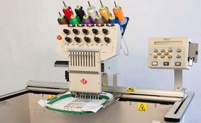 ID#1275 - Melco EMT 10T Commercial Embroidery Machine.  Year 1997 Heads: 1 Needles: 10 - www.TheEmbroideryWarehouse.com