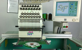 ID# 1277 2005 Tajima TEHX-C1501  Single Head commercial embroidery machine http://www.TheEmbroideryWarehouse.com