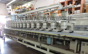 ID# 1283 1995 Barudan BENSME YN 15T  Multi-head commercial embroidery machine http://www.TheEmbroideryWarehouse.com