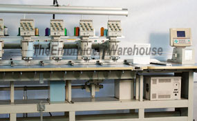 ID# 1292 1994 Barudan BENSME YN 15T  Multi-head commercial embroidery machine http://www.TheEmbroideryWarehouse.com
