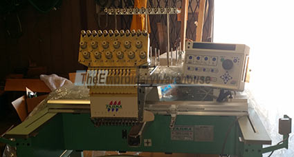 ID#1301 - Tajima TMEX-C1201 Commercial Embroidery Machine.  Year 1997 Heads: 1 Needles: 12 - www.TheEmbroideryWarehouse.com