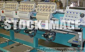 ID#1303 - Tajima TMFX-C1206 Commercial Embroidery Machine.  Year 1997 Heads: 6 Needles: 12 - www.TheEmbroideryWarehouse.com