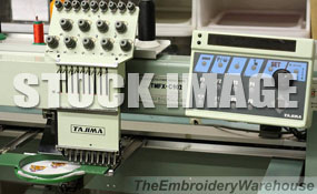 ID# 1305 1993 Tajima TMFX-C904  Multi-head commercial embroidery machine http://www.TheEmbroideryWarehouse.com