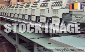 ID#1320 - Tajima TME-DC912 Commercial Embroidery Machine.  Year  Heads: 12 Needles: 9 - www.TheEmbroideryWarehouse.com