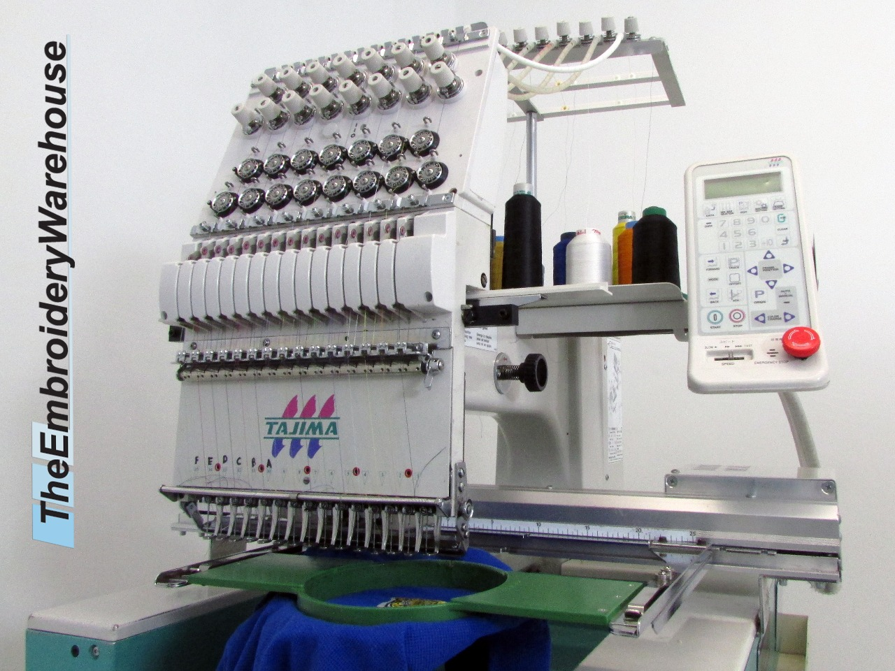 ID#1421 - Tajima NEO Commercial Embroidery Machine.  Year 2002 Heads: 1 Needles: 15 - www.TheEmbroideryWarehouse.com