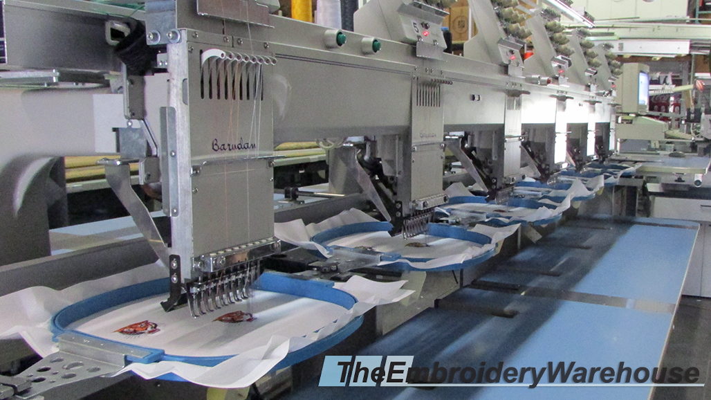 ID#1425 - Barudan BEATME 906 Commercial Embroidery Machine.  Year 1997 Heads: 6 Needles: 9 - www.TheEmbroideryWarehouse.com