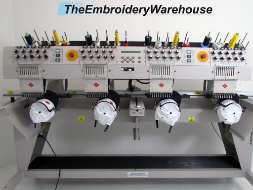 ID#1432 - Melco EMT 10/4T Commercial Embroidery Machine.  Year 2002 Heads: 4 Needles: 10 - www.TheEmbroideryWarehouse.com