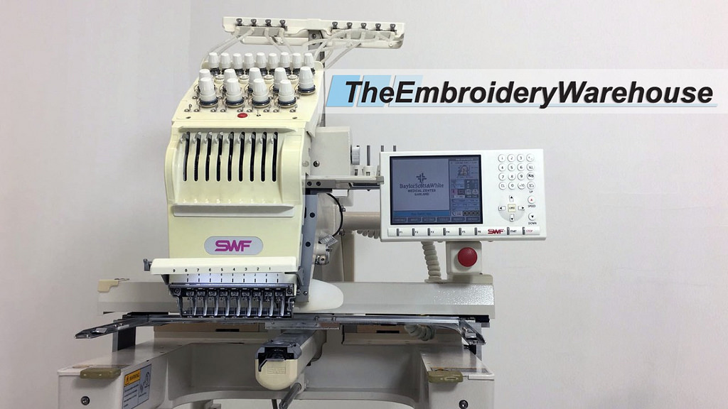 ID#1434 - SWF /E T901C Commercial Embroidery Machine.  Year 2006 Heads: 1 Needles: 9 - www.TheEmbroideryWarehouse.com