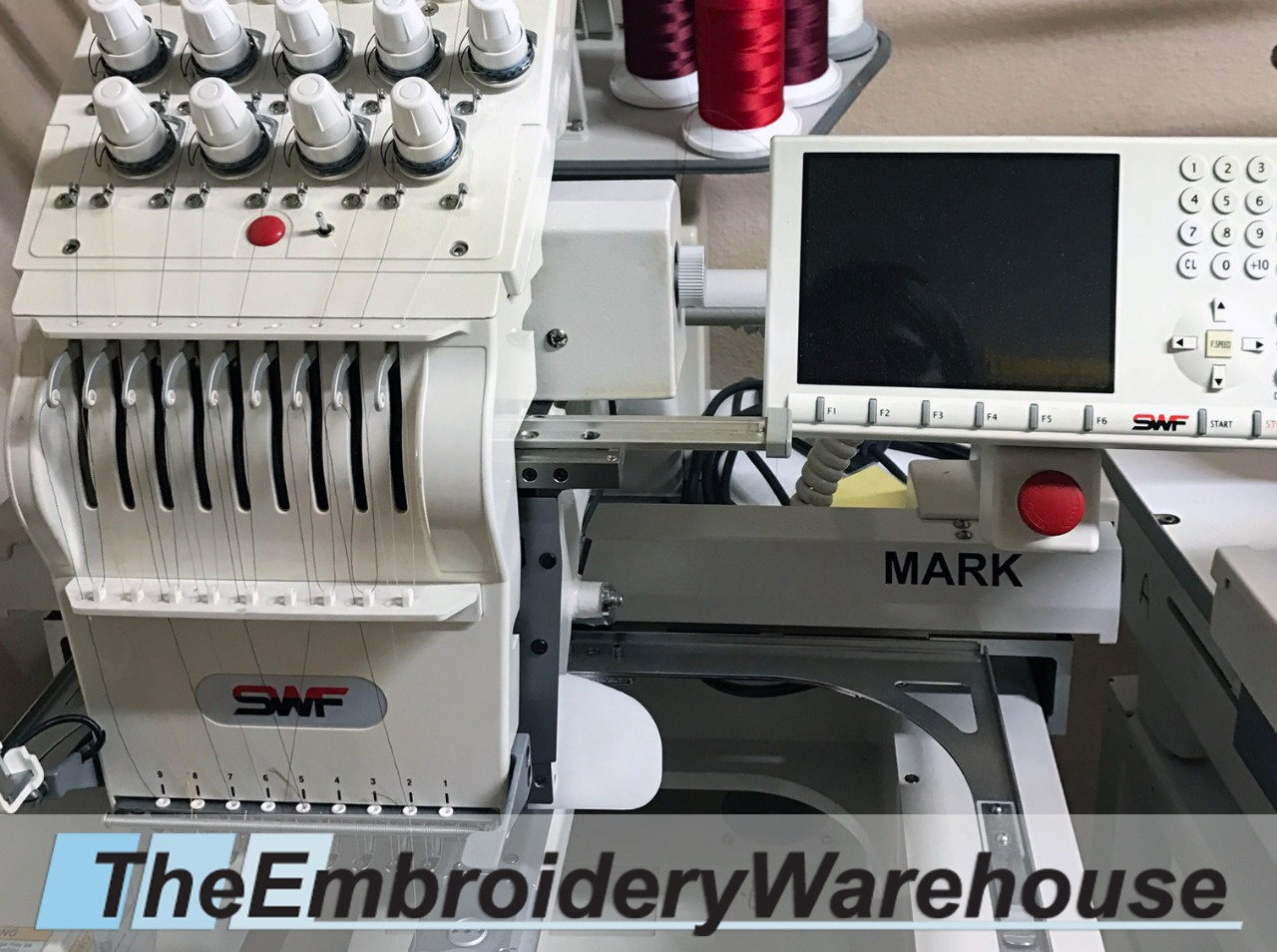 ID#1435 - SWF /E T901E Commercial Embroidery Machine.  Year 2006 Heads: 1 Needles: 9 - www.TheEmbroideryWarehouse.com