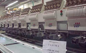 ID#3004 - Tajima TME DC1212 Commercial Embroidery Machine.  Year 1996 Heads: 12 Needles: 12 - www.TheEmbroideryWarehouse.com