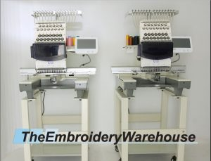 Dual (2) Head 15 Needle Commercial Embroidery Machines