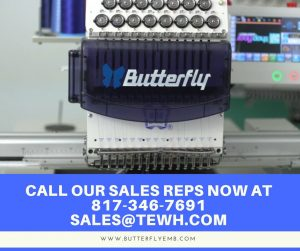 Single Head Commercial Embroidery Machine – ButterFly B 1501/T