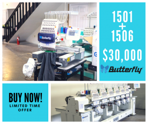 Butterfly Embroidery Equipment – Special Limited Time Offer – BOGO 1506+1501