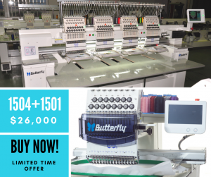 Butterfly Embroidery Equipment – Special Limited Time Offer – BOGO 1504+1501