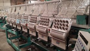 Used Tajima TMFXV-C1508 Commercial Embroidery Machine