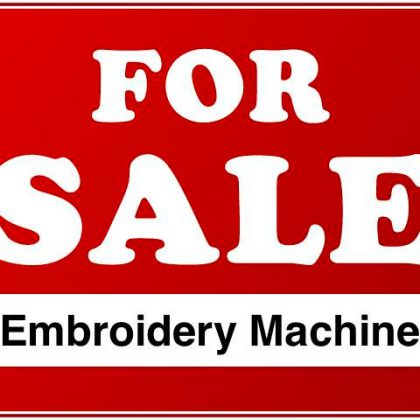 Sell your Commercial Embroidery Machine