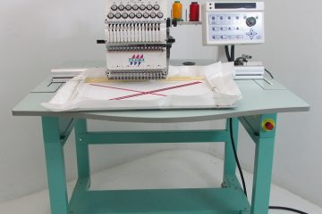 USED Tajima TEHX-C1501 - 1 Head - 15 Needles - Commercial Embroidery Machine year 2003