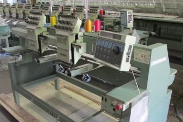 USED Tajima TMFX-C902 - 9 Needles - 2 Head- Commercial Embroidery Machine