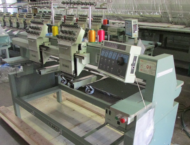 USED Tajima TMFX-C902 - 9 Needles - 2 Head- Commercial Embroidery Machine