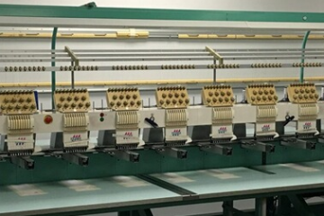 USED Tajima TME-DC915 - 15 Head - 9 Needles - Commercial Embroidery Machine