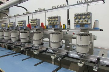 USED Barudan BENSME-YS-12 - 7 Needles - 12 Head - Commercial Embroidery Machine