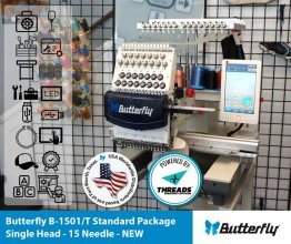 Butterfly B-1501/T Standard Package - Single Head - 15 Needle - NEW (Year 2021)