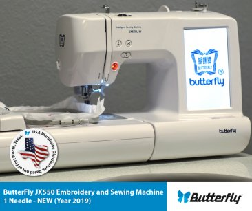 ButterFly JX550 Embroidery and Sewing Machine - 1 Needle - NEW (Year 2020)